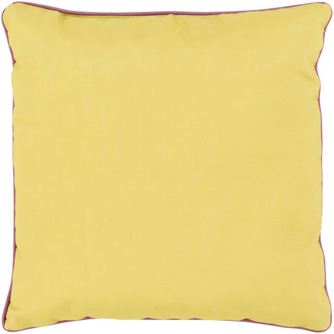 Bahari Throw Pillow Yellow Purple