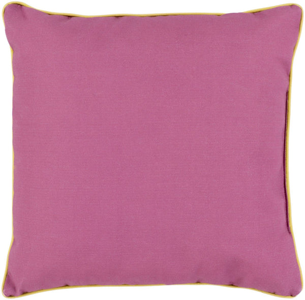 Bahari Throw Pillow Purple Yellow