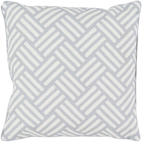 Basketweave Throw Pillow Gray Neutral