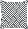 Basketweave Throw Pillow Black Neutral