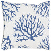 Coral Throw Pillow Blue Neutral