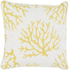 Coral Throw Pillow Yellow Neutral