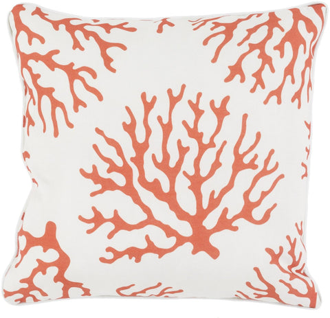 Coral Throw Pillow Orange Neutral