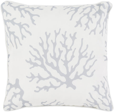 Coral Throw Pillow Gray Neutral