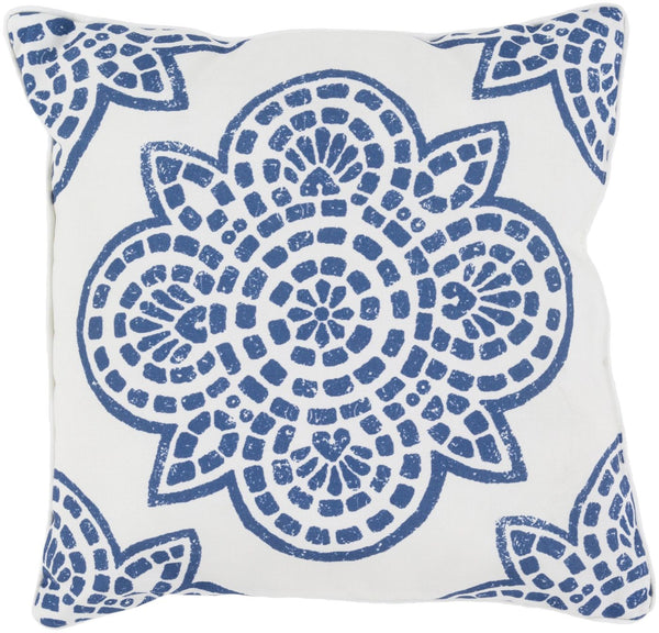 Hemma Throw Pillow Blue Neutral