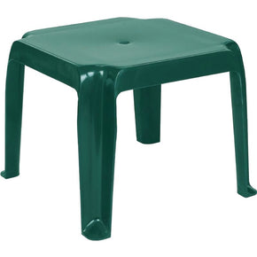 Sunray Resin Square Side Table Green (Set Of 2) Outdoor