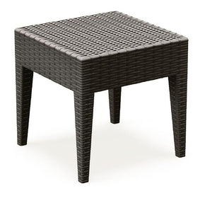 Outdoor Side Tables - Compamia ISP858-BR Miami Square Resin Side Table Brown | 8697443552948 | Only $98.99. Buy today at http://www.contemporaryfurniturewarehouse.com