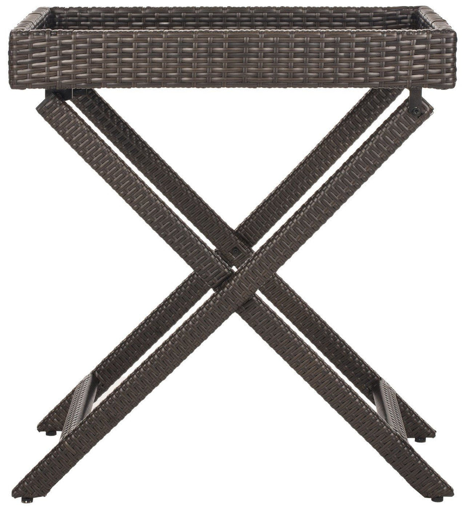 Bardia Tray Table Brown Outdoor Side