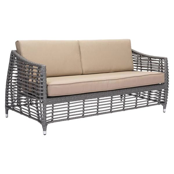 Zuo Modern Trek Beach Sofa Gray U0026 Beige At Contemporary Furniture Warehouse