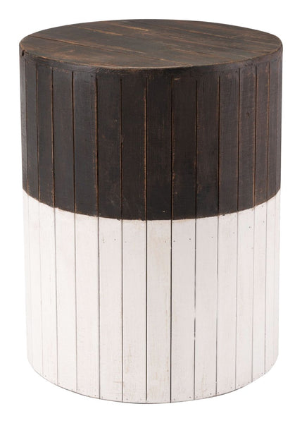 Incredible Wooden Round Garden Seat Brown White Pabps2019 Chair Design Images Pabps2019Com