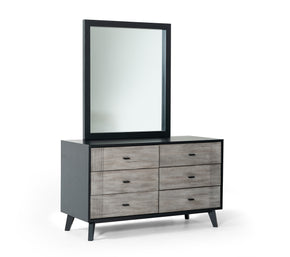 Vig Furniture VGMABR-77-DRS Nova Domus Panther Contemporary Grey & Black Dresser