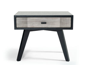 Vig Furniture VGMABR-77-NS Nova Domus Panther Contemporary Grey & Black Nightstand