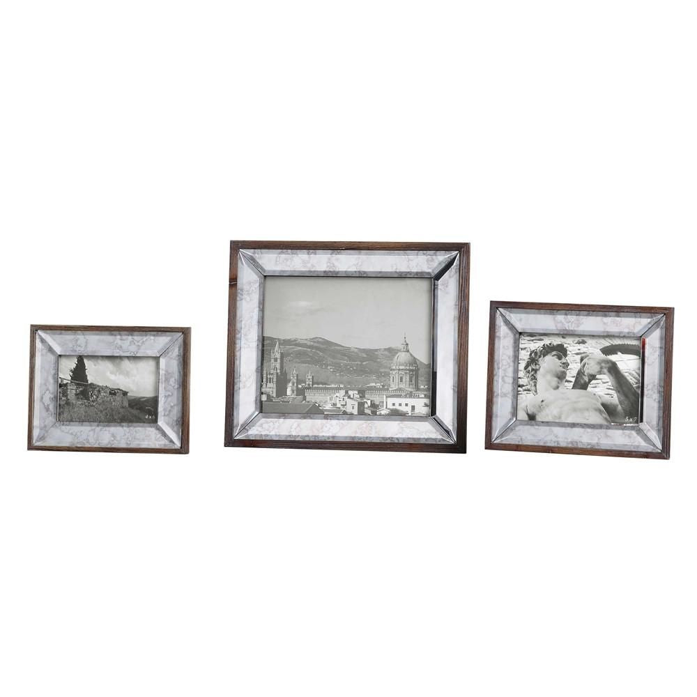 Uttermost Daria Antique Mirror Photo Frames S 3 Utt 18567