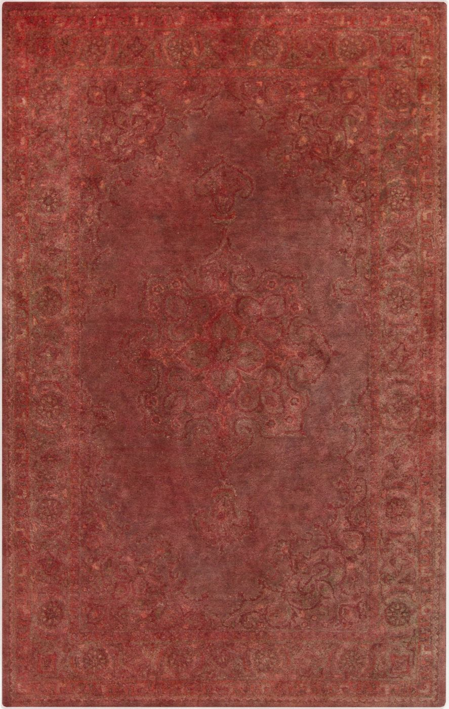 Mykonos classic area rug red by surya myk5005 23 for Area 604
