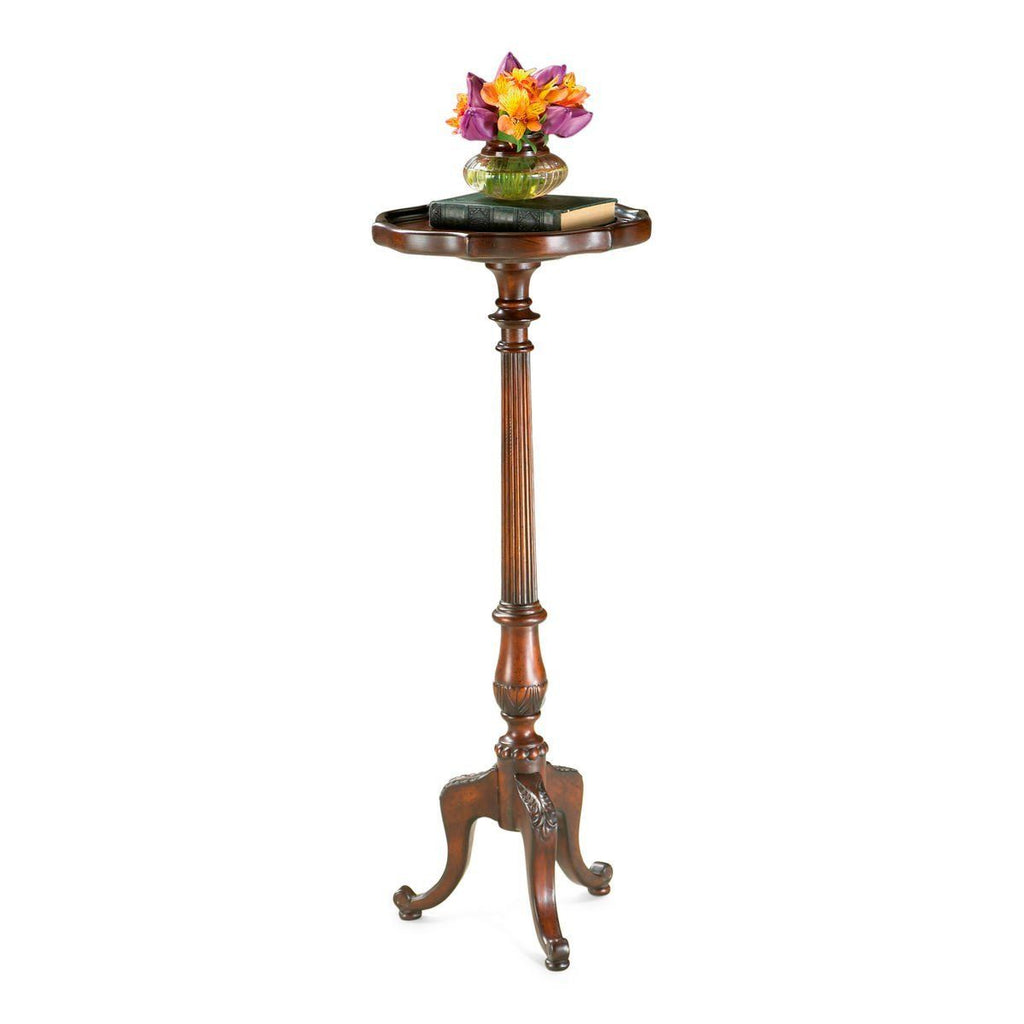 Chatsworth Traditional Round Pedestal Plant Stand Dark Brown ...