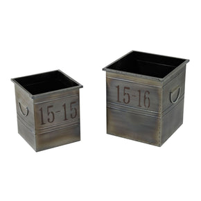 Set Of 2 Industrial Planters Planter