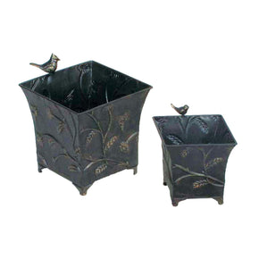 A-Set/2 Bird & Wheat Cache Pots** Planter