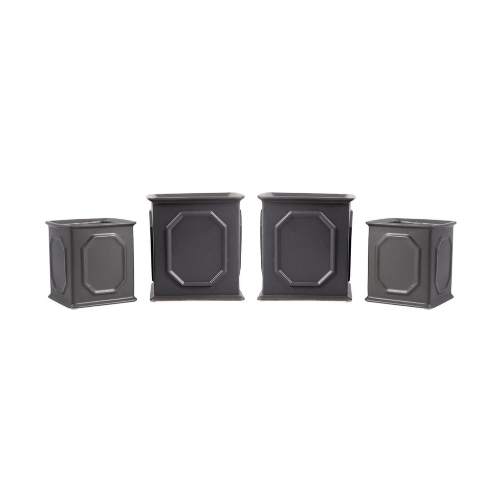 Milo Set Of 4 Planters Grey Planter