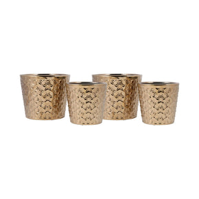 Astria Set Of 4 Planters Gold Planter
