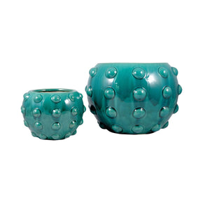 Aquatica Set Of 2 Planters Aquamarine Planter