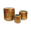 Burnham S3 Nesting Planters Hammered Burned Copper Planter