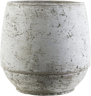 Rome Cottage/country Pot Light Gray Ivory Planter