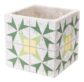 Cement Arrow Planter Green And Yellow