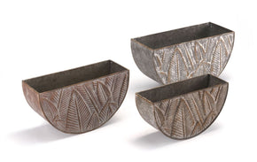Leaves Set Of 3 Planters Multicolor Planter