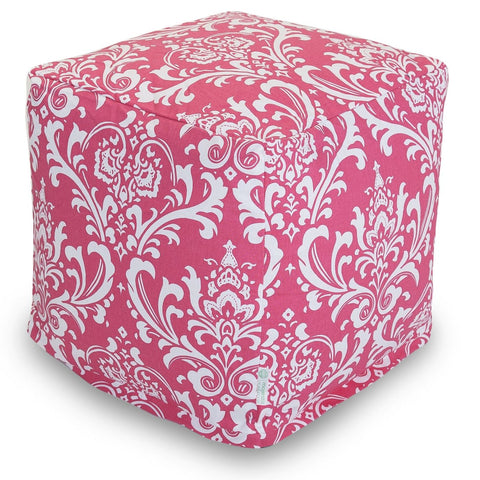 Hot Pink French Quarter Small Cube Pouf