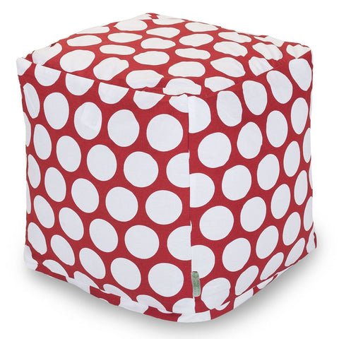 Poufs - Majestic Home 85907210127 Red Hot Large Polka Dot Small Cube | 859072101270 | Only $66.70. Buy today at http://www.contemporaryfurniturewarehouse.com