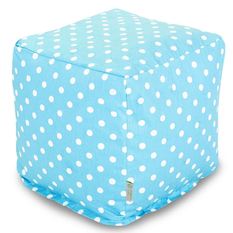 Poufs - Majestic Home 85907210129 Aquamarine Small Polka Dot Small Cube | 859072101290 | Only $66.70. Buy today at http://www.contemporaryfurniturewarehouse.com