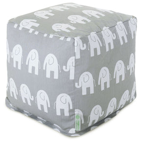 Poufs - Majestic Home 85907210141 Gray Ellie Small Cube | 859072101410 | Only $66.70. Buy today at http://www.contemporaryfurniturewarehouse.com
