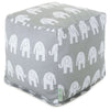 Gray Ellie Small Cube Pouf