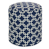 Navy Blue Links Small Pouf