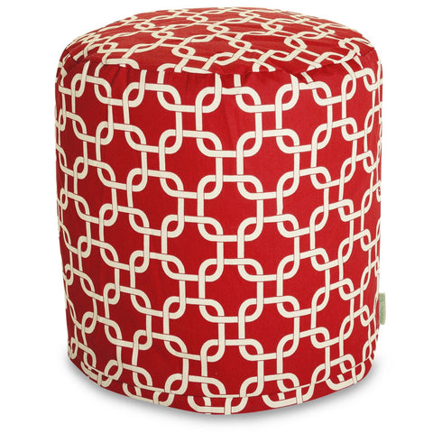Red Links Small Pouf