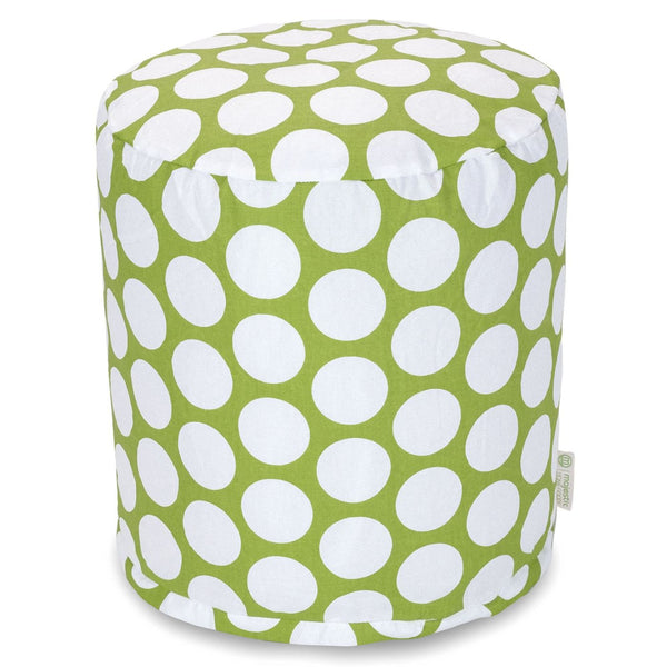 Hot Green Large Polka Dot Small Pouf
