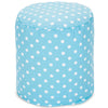Aquamarine Small Polka Dot Pouf
