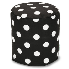 Black Large Polka Dot Small Pouf