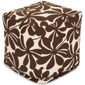 Chocolate Plantation Small Cube Pouf