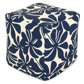 Poufs - Majestic Home 85907220118 Navy Blue Plantation Small Cube | 859072201180 | Only $66.70. Buy today at http://www.contemporaryfurniturewarehouse.com