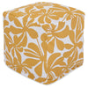 Yellow Plantation Small Cube Pouf