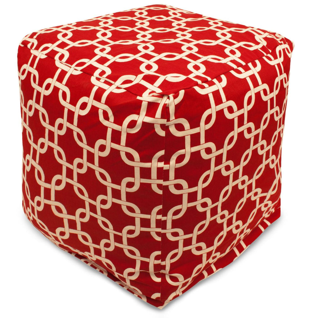Poufs - Majestic Home 85907220132 Red Links Small Cube | 859072201320 | Only $66.70. Buy today at http://www.contemporaryfurniturewarehouse.com