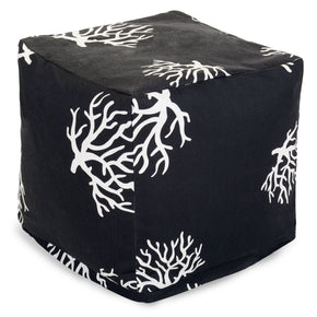 Black Coral Small Cube Pouf