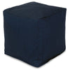 Poufs - Majestic Home 85907220158 Navy Blue Solid Small Cube | 859072201580 | Only $66.70. Buy today at http://www.contemporaryfurniturewarehouse.com
