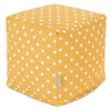 Citrus Ikat Dot Small Cube Pouf
