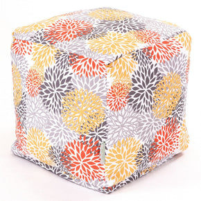 Citrus Blooms Small Cube Pouf