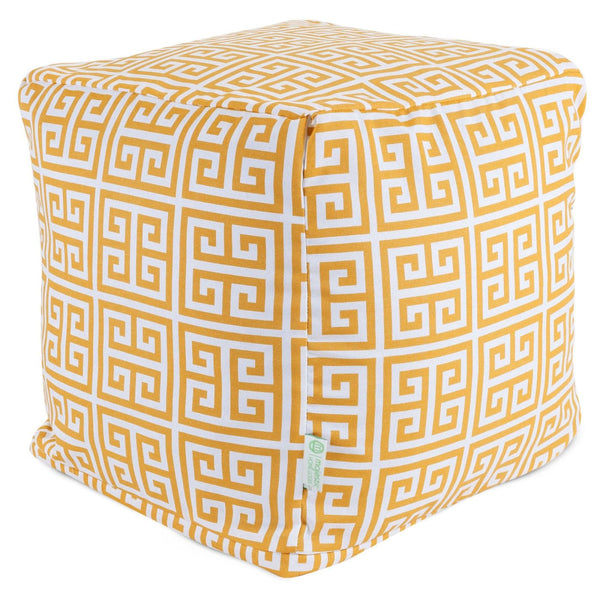 Citrus Towers Small Cube Pouf
