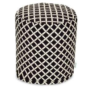 Black Bamboo Small Pouf