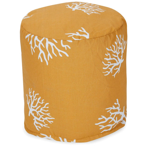 Yellow Coral Small Pouf