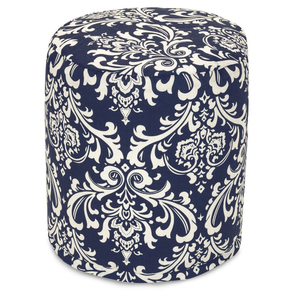 Navy Blue French Quarter Small Pouf